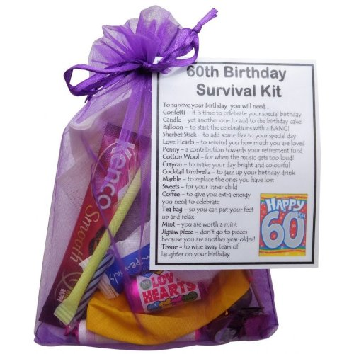 60th Birthday Survival Kit - An excellent alternative to a card