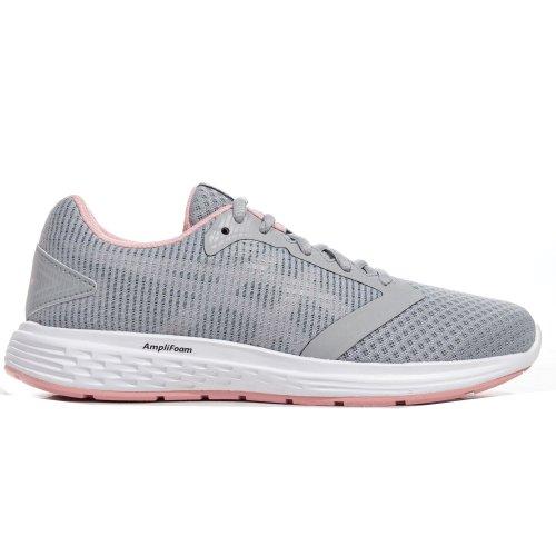 Asics Patriot 10 Womens Ladies Running Trainer Shoe Grey/Pink