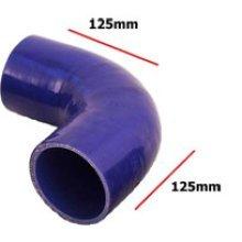 83mm Blue Internal 90 Degree Universal Silicone Hosing - 4 Ply Inside Diameter - Blue 90 Degree Universal Blue Silicone Hosing 4 Ply Inside Diameter