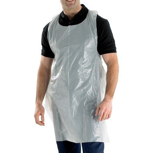 "Click DA42DP Disposable Apron Pack White 42"" x 27"" Pack of 1000"