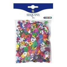 Pbx2460004 - Playbox - Sequins (mixed Colours & Shapes) - 50 G