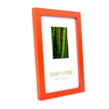 Decorative Wood 4-by-6-Inch Picture Photo Frame, Set Of 2, Orange