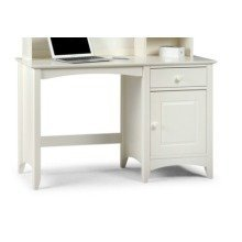 Treck White Stone Desk - 1 Door 1 Drawer - Fully Assembled Option Fully Assembled(+23) No Chair Hutch(+149.99)