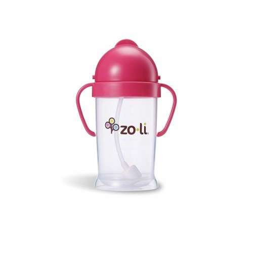 ZoLi Bot Straw Sippy Cup 180ml Pink
