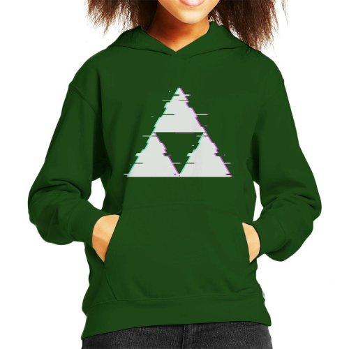 Glitch Triforce Legend Of Zelda Kid's Hooded Sweatshirt