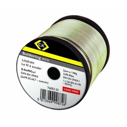 CK T6052 52 Lead Free Soldering Wire 2mm x 500g Reel