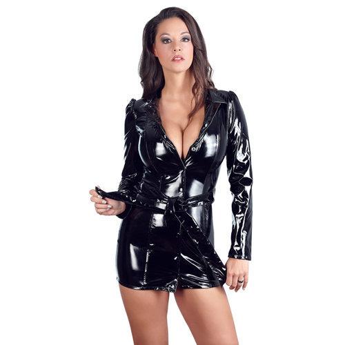 Vinyl Coat Dress Small Ladies Lingerie Ladies PVC Clothing - Black Level