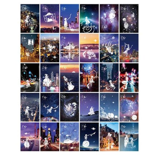 30PCS 1 Set Creative Postcards Artistic Beautiful Postcards, Little Prince