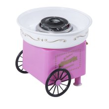 HOMCOM Electric Cotton Candy Maker Candy Floss Machine Cart Kitchen DIY 450W Pink