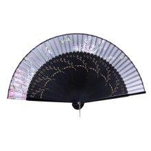 Elegant Hand Fan Portable Folding Fan Carved Handheld Fan Chinese Fans #11
