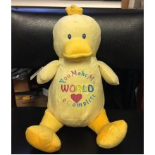 Yellow Duck - Personalised With Message, Name or Birth Date