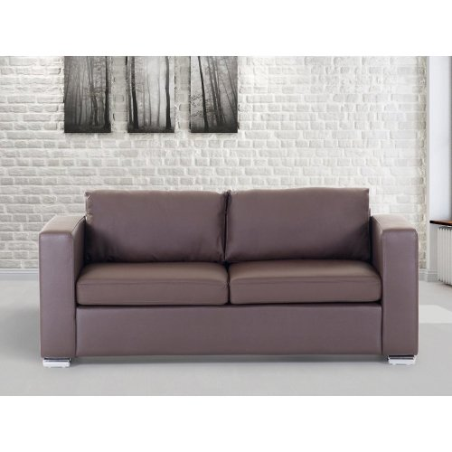Leather 3 Seater Sofa - Couch - Settee - Loveseat - HELSINKI