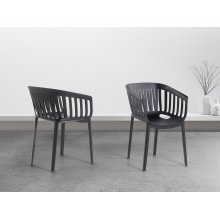 Outdoor Dining Chair - DALLAS - Black