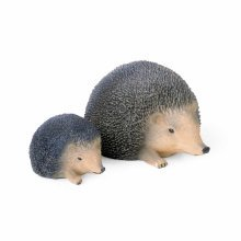 Lifelike Resin Hedgehog Ornaments For The Garden - Set of Two