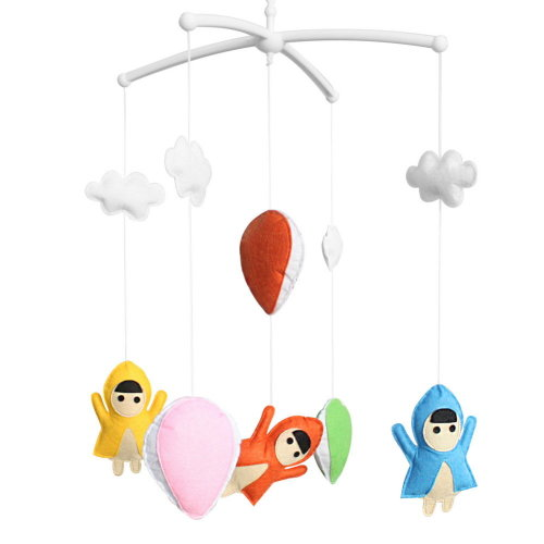 Rotatable Musical Mobile Baby Crib with Arm and Musical Box Handmade Toys