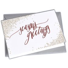 Christmas Cards Greeting Cards Christmas Gift Xmas Cards (4 Cards and Envelopes), White # 32