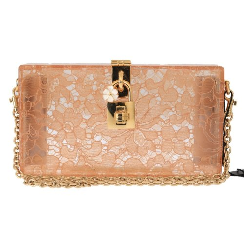 918bbe3390 Dolce & Gabbana Pink Taormina Lace Crystal Clutch Bag on OnBuy