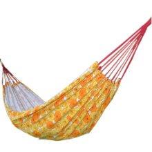 "Fashion Creative Canvas Flower Hammock Outdoor Foldable Hammock 76.7*33"" Yellow"
