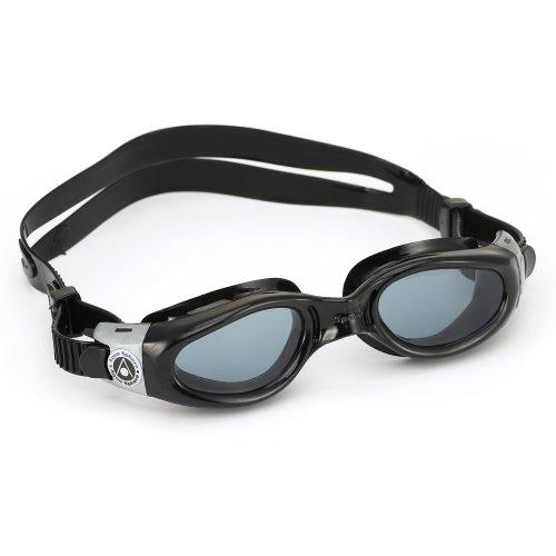 Aqua Sphere Unisex Adult Kaiman Small Fit Men's and Women's Swimming Goggles, Black (Dark Lens), Small