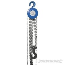 Silverline Chain Block 5000kg / 3m Lift Height - 5 Ton 282517 -  chain block silverline lift 5 ton 282517 3m height 5000kg