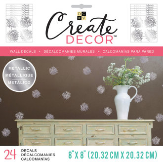 "Dcwv Create Decor Removable Wall Decals 8""X8""-Chrysanthemum, 6 Sheets"