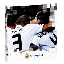 Real Madrid Fc A5 Ring Binder x 2 - Pack Binders Official Licensed Football -  real madrid 2 pack a5 ring binders official licensed football school