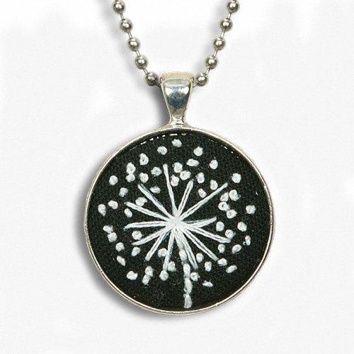 D72-74073 - Dimensions Embroidery - Dandelion Bezel Pendant
