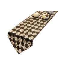 High Class Sequined Table Runner Black Silver Lattice Table Cover