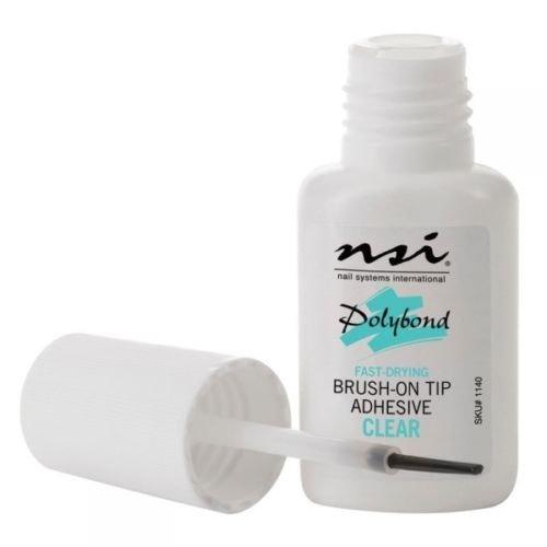 NSI Polybond Nail Glue 7.4ml   Brush-On Tip Adhesive