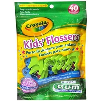 Gum Crayola Kids' Flossers 40 Each (Pack Of 2)