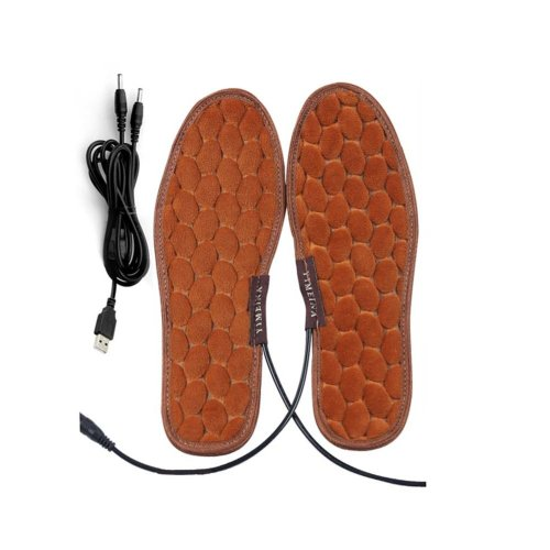 One Pair Heating Shoes Pads USB Electric Heated Pads usb Foot Warmer for Winter 25cm #1