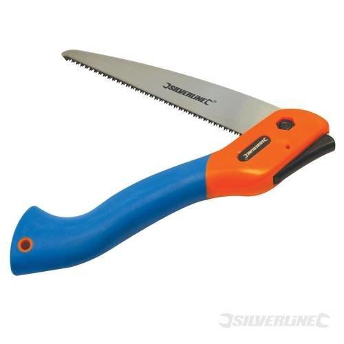 240mm Silverline Tri-cut Folding Saw -  saw folding tricut silverline pruning blade 260331 garden 180mm cutting lock