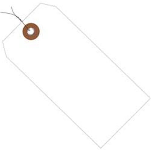 Box Partners G26050W 4.75 x 2.38 in. White Plastic Shipping Tags - Pre-Wired - Pack of 100