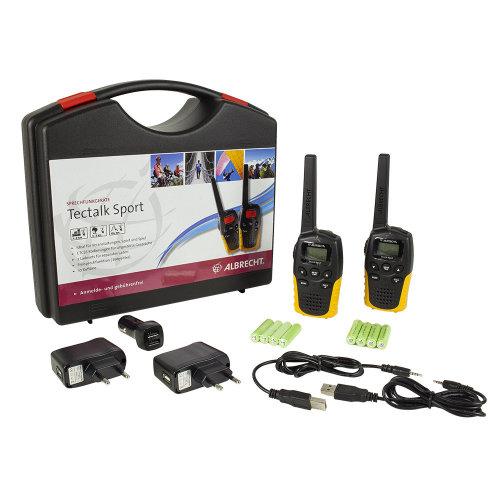 Portable PMR radio station Albrecht Tectalk Sport set with 2pcs Code 29865