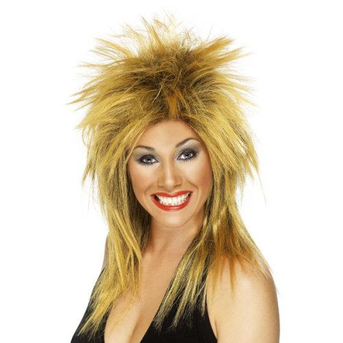 Smiffys Female 80s Rock Diva Wig - Ginger -  wig rock diva ginger fancy dress black smiffys 80s ladies tina 1980s