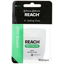 Johnson & Johnson Reach Interdental Adult Floss , Mint Waxed, 55 yds