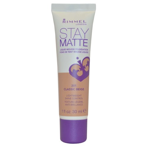 Rimmel London Stay Matte Liquid Mousse Foundation Shine Control 30ml Classic Beige #201