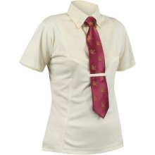 Shires Short Sleeve Tie Shirt - Childrens: Yellow: XX Small