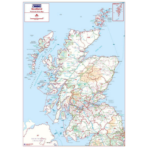 Postcode Area Map 2 - Scotland