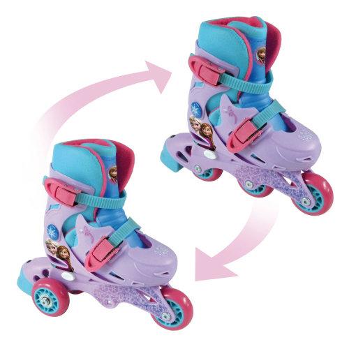 DISNEY Frozen Evolution 2-in-1 Tri to Inline Roller Skates 27-30