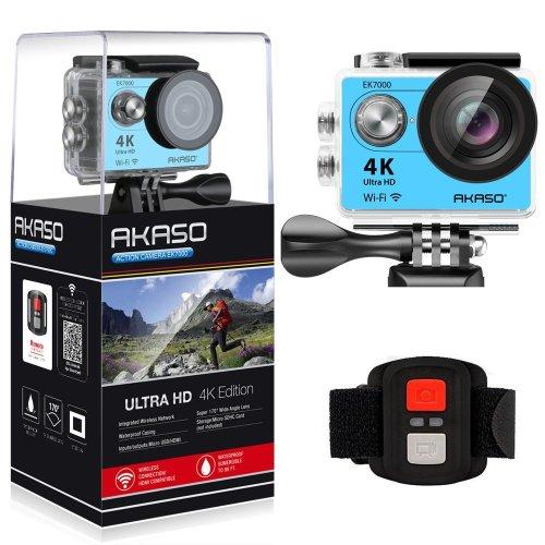 Akaso Ek7000 4k Sport Action Camera Ultra Hd Camcorder Blue On Onbuy