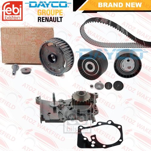 RENAULT LAGUNA SCENIC 1.6 16V OE DEPHASER PULLEY TIMING CAM BELT KIT WATER PUMP