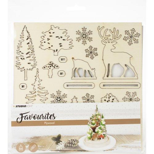 Studio Light Plywood Favourites Scenery-Christmas Tree
