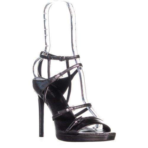 Calvin Klein Shantell Strappy Stiletto Sandals, Gunmetal, 6 UK