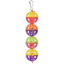 Pen-Plax BA511 4 Count Lattice Balls with Bells