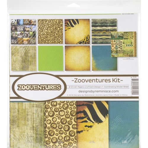 """Reminisce Collection Kit 12""""X12""""-Zooventures"""