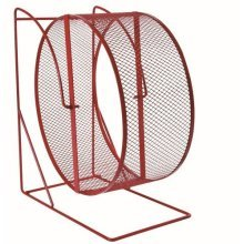 Trixie Rodent Wheel Metal Close-meshed Tread x 17cm - Hamster Gerbil Cage -  trixie metal wheel 17cm hamster gerbil cage syrian free standing rodent