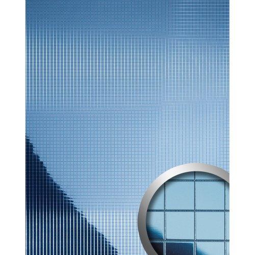 WallFace 10603 M-STYLE Wall panel eyecatcher metal mosaic ice-blue | 0.96 sqm
