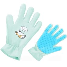 Pet Grooming Glove Brush Glove Pet Hair Remover Massage Tool (Left Hand)