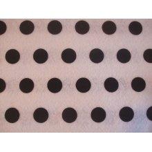 "White with Black Spots Spotty Polka Dot Felt. 9"" x 12"""